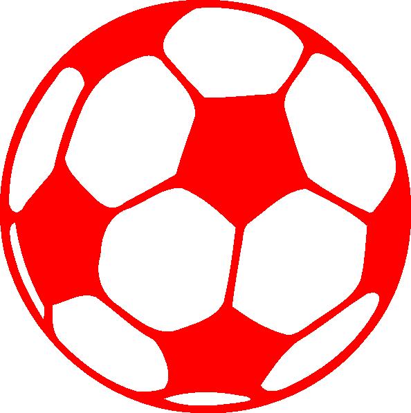 Clipart heart soccer. Red football clip art