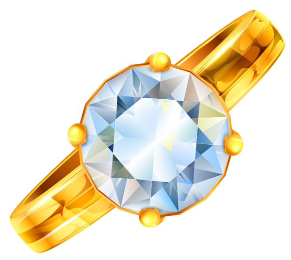 Treasure clipart jewelry. Gold ring with diamond