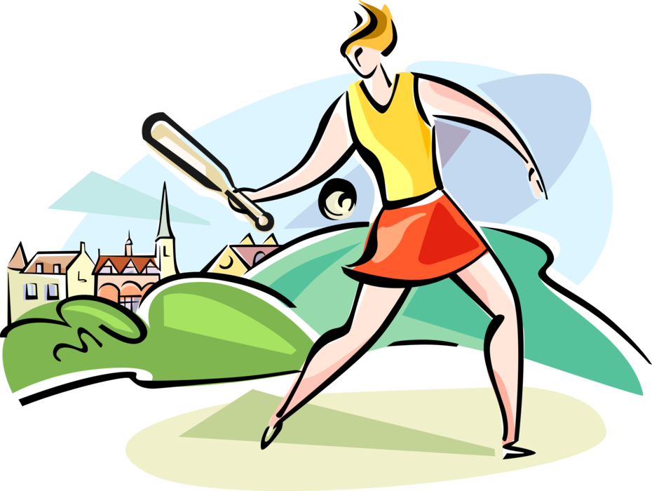 Sports clipart rounders. Bat and ball game