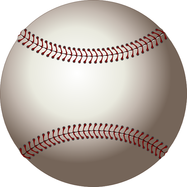 Baseball ball clip art. Sports clipart rounders