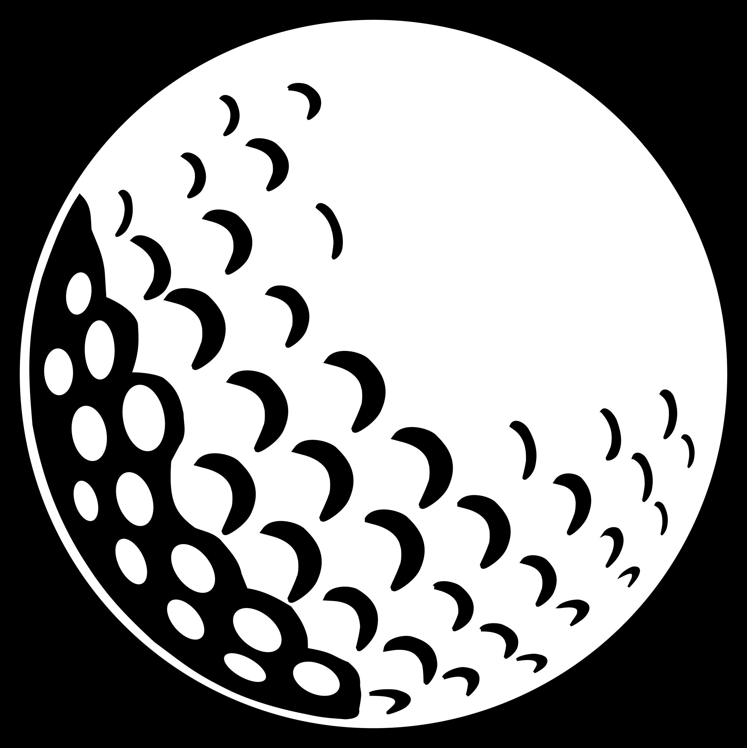 Golfer clipart svg. Golf ball big image