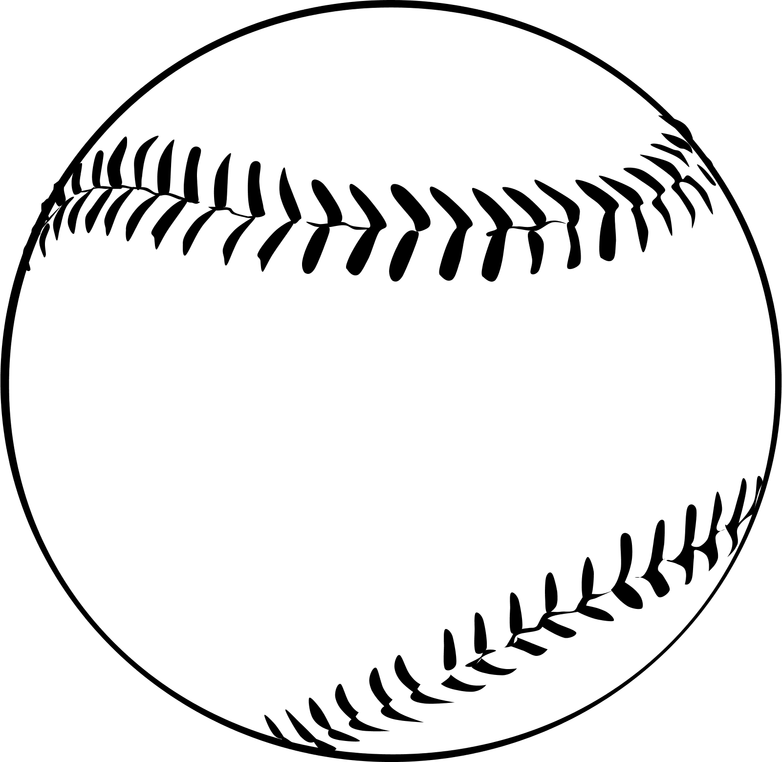 Stitch clipart softball. Baseball black and white