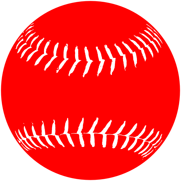 White clipart softball. Red clip art at