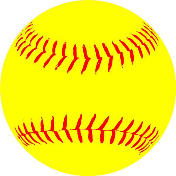 Yellow paintings softball clip. Words clipart baseball