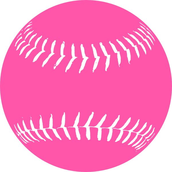 Softball clipart green. Pink clip art at