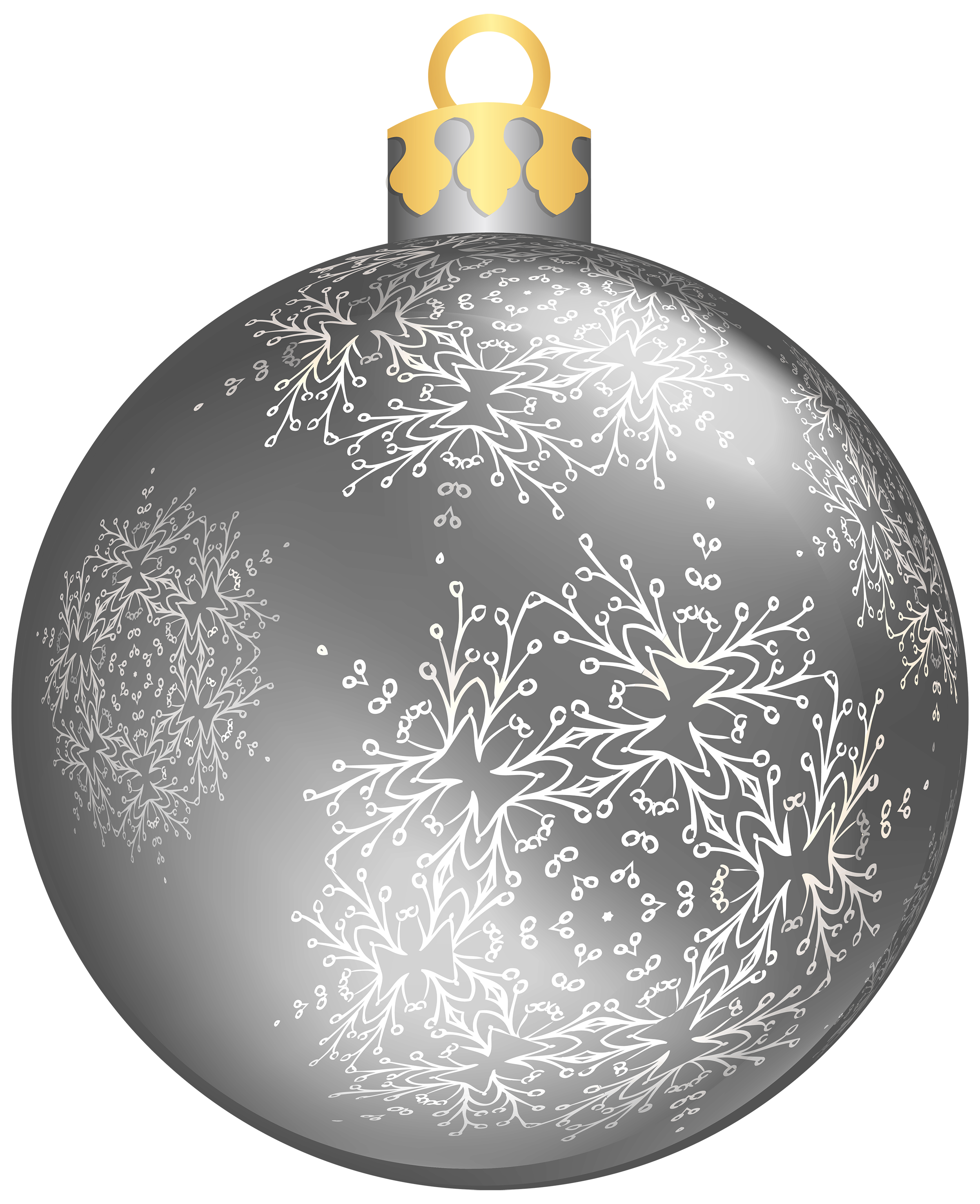 Ball png best web. Clipart christmas silver