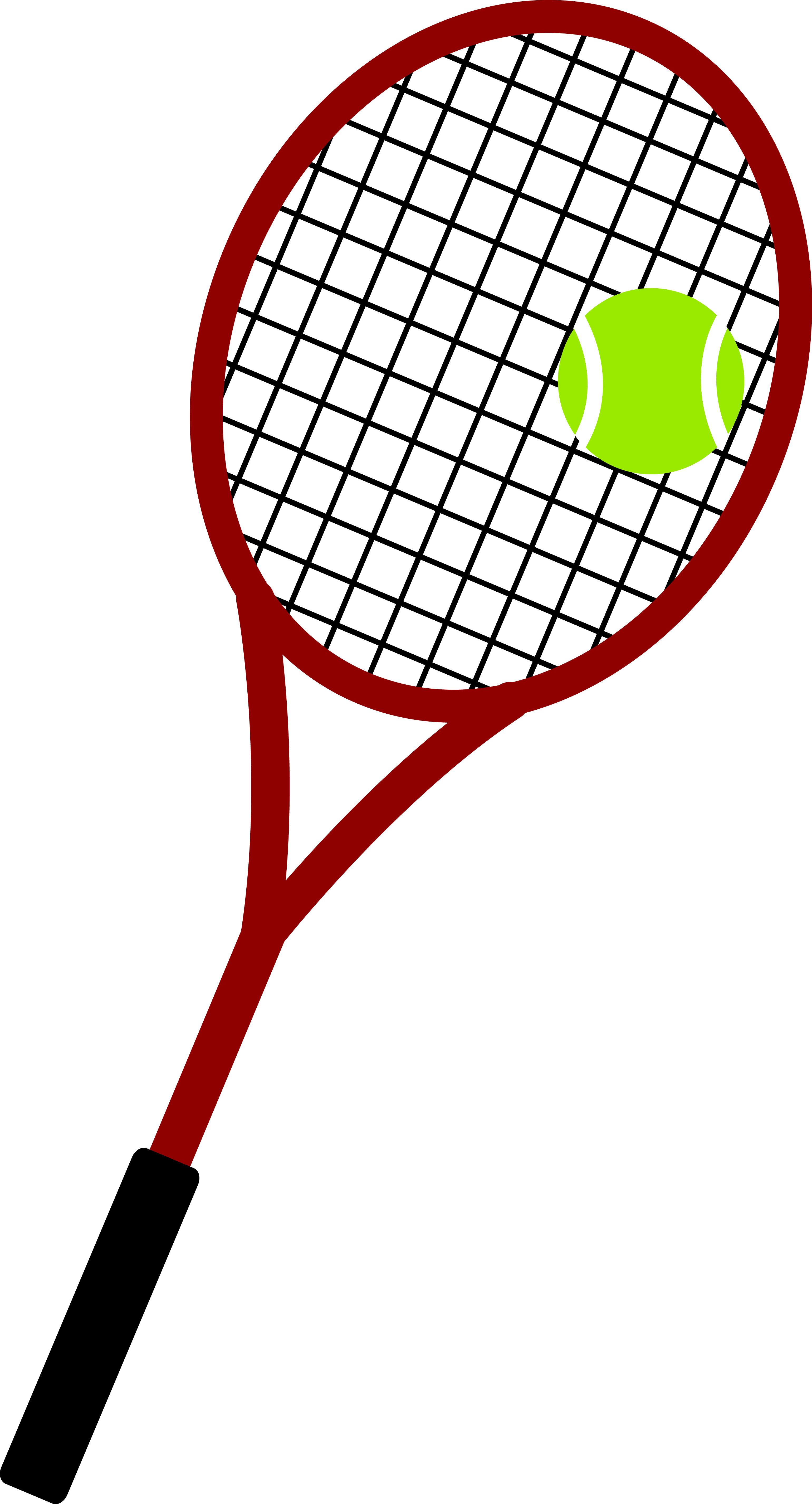 Racket and ball free. Guy clipart tennis
