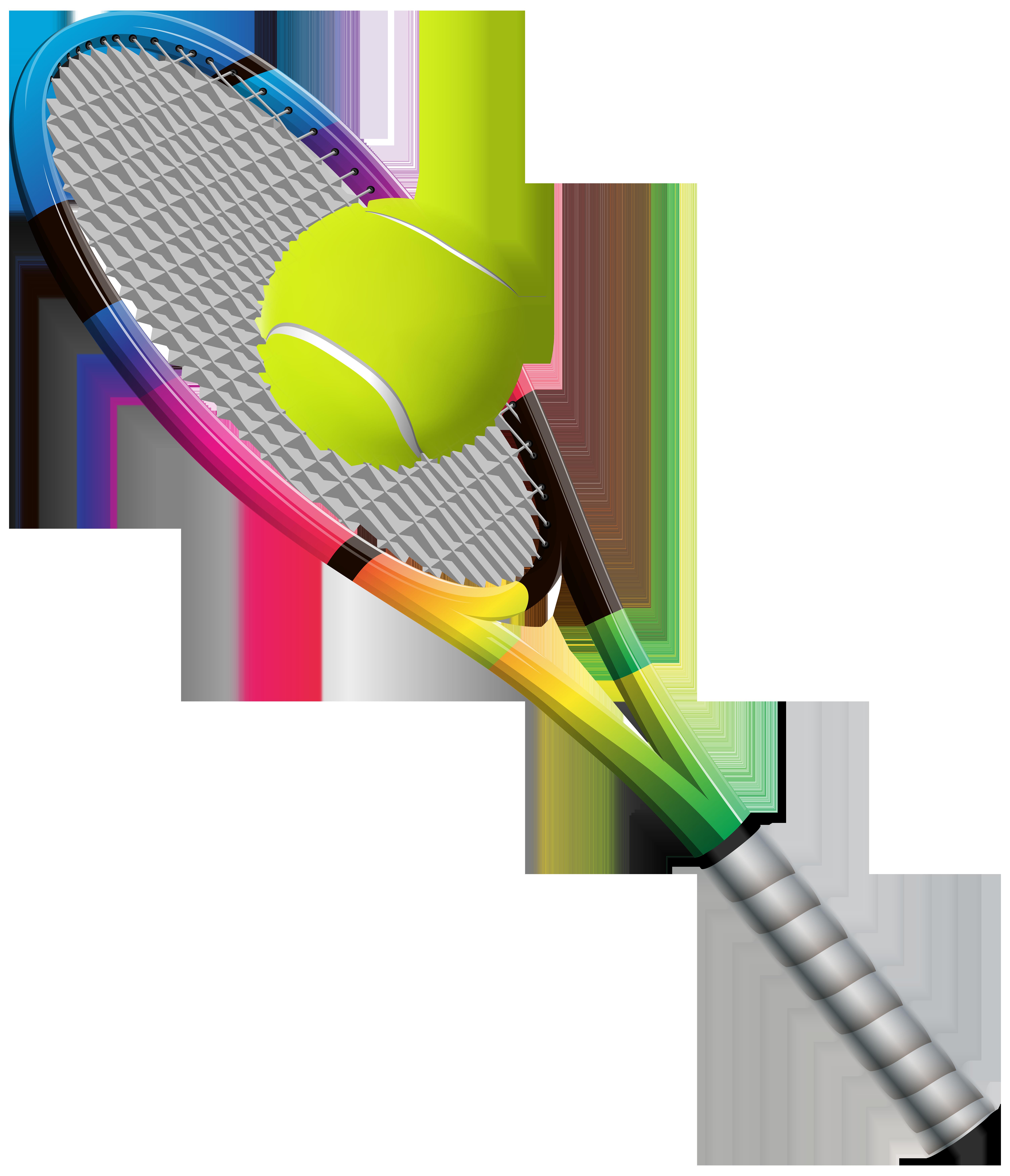 Racket and ball transparent. Clipart rocket tennis