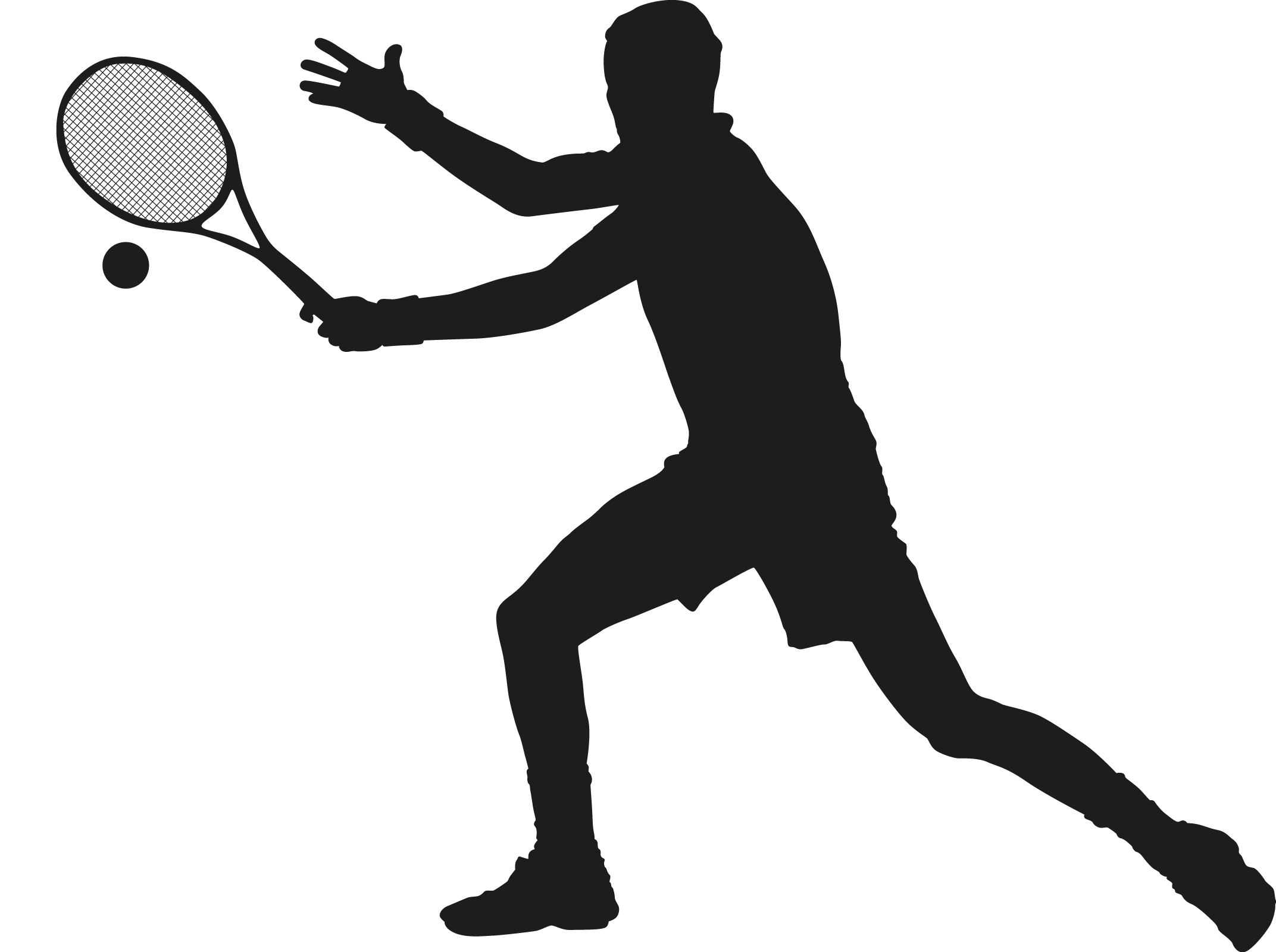 Ball silhouette at getdrawings. Cup clipart tennis