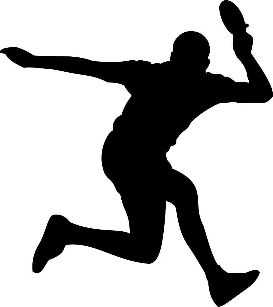 Volleyball clipart move. Table tennis silhouette at