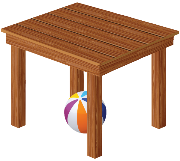 Clipart table 3d table.  collection of ball