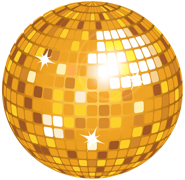 Glass clipart disco. Yellow ball png clip