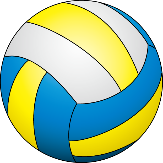 clipart volleyball yellow