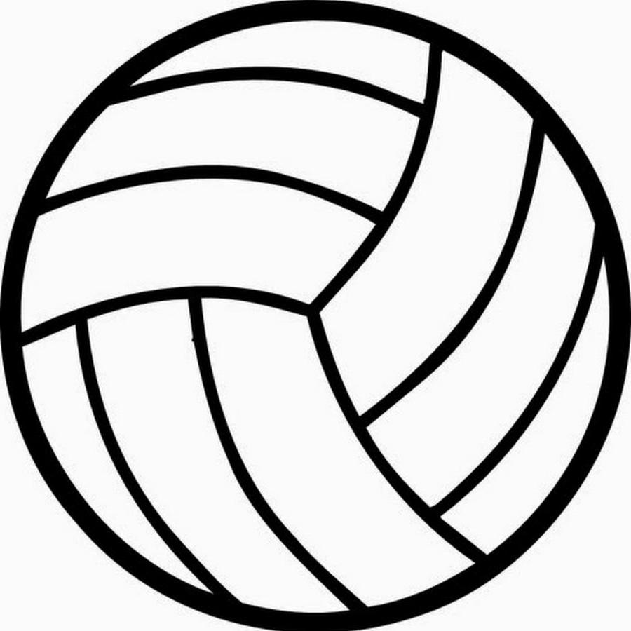 Best black and white. Clipart volleyball clip art