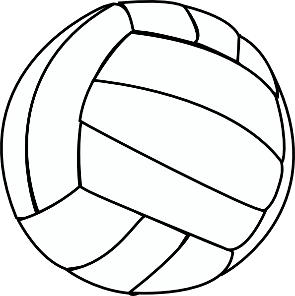 Thin clip art at. Clipart volleyball line