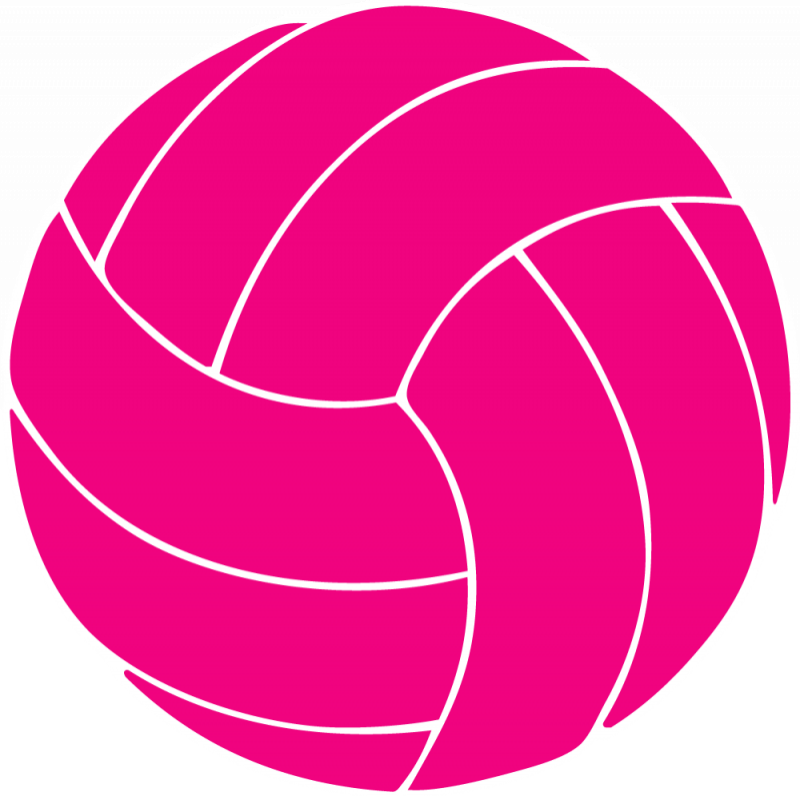 Pink . Clipart volleyball christmas