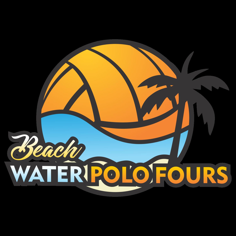 Beach water polo fours. Clipart ball waterpolo