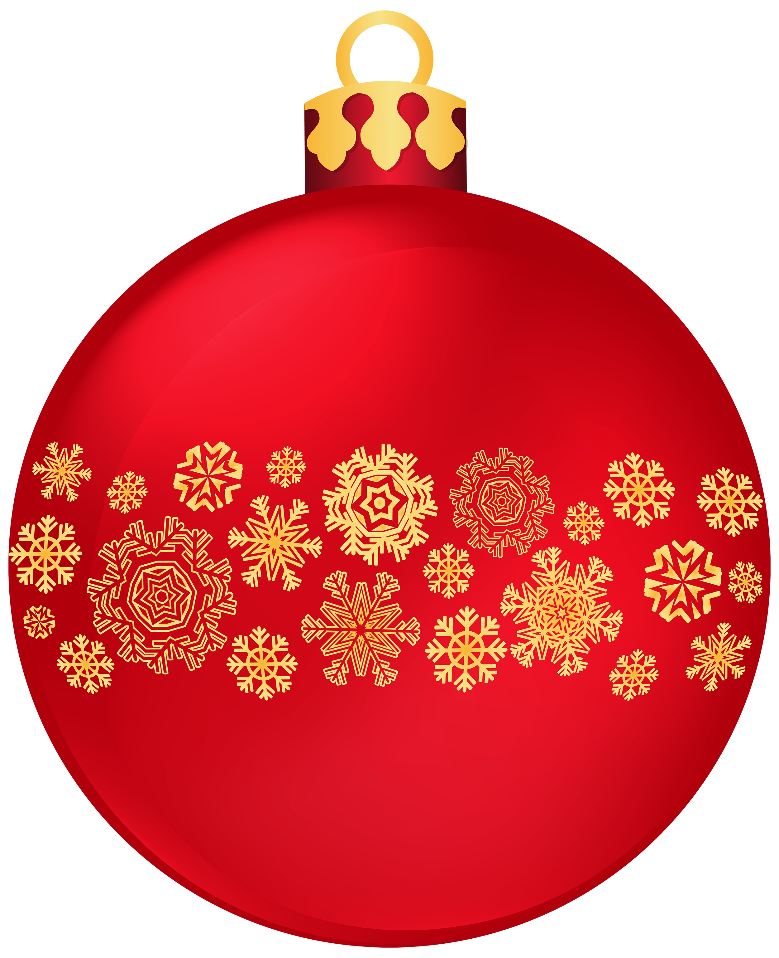 Clipart box ball. Red christmas with snowflakes