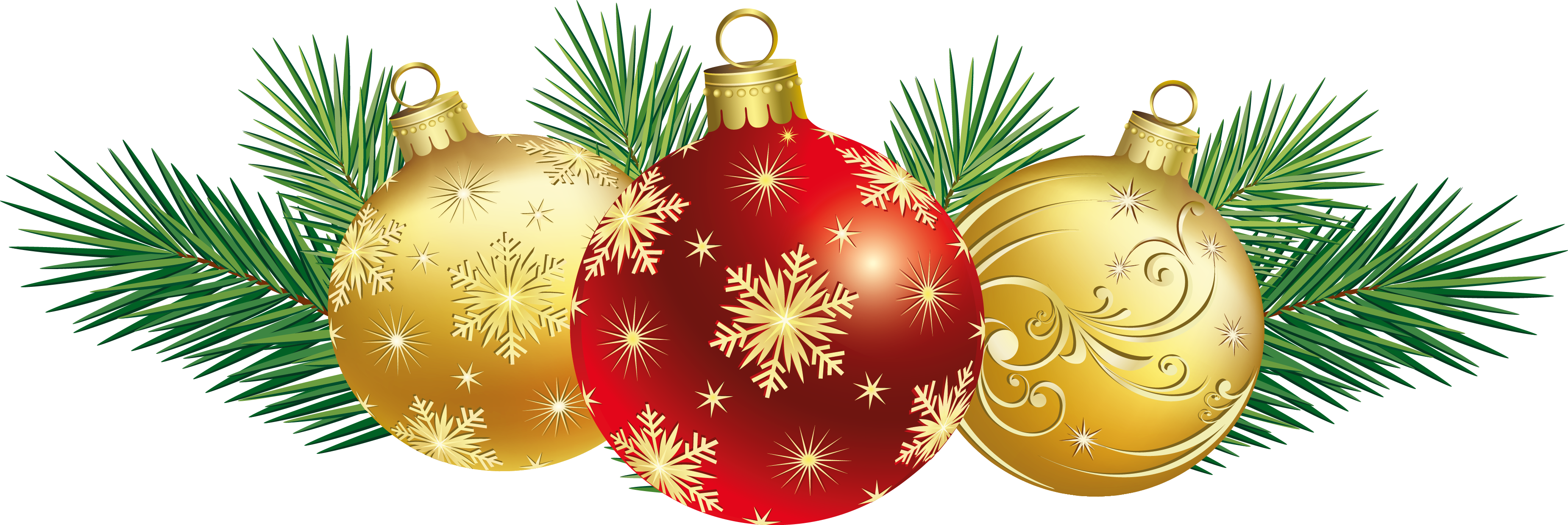 Christmas balls png pictures. Holly clipart decoration