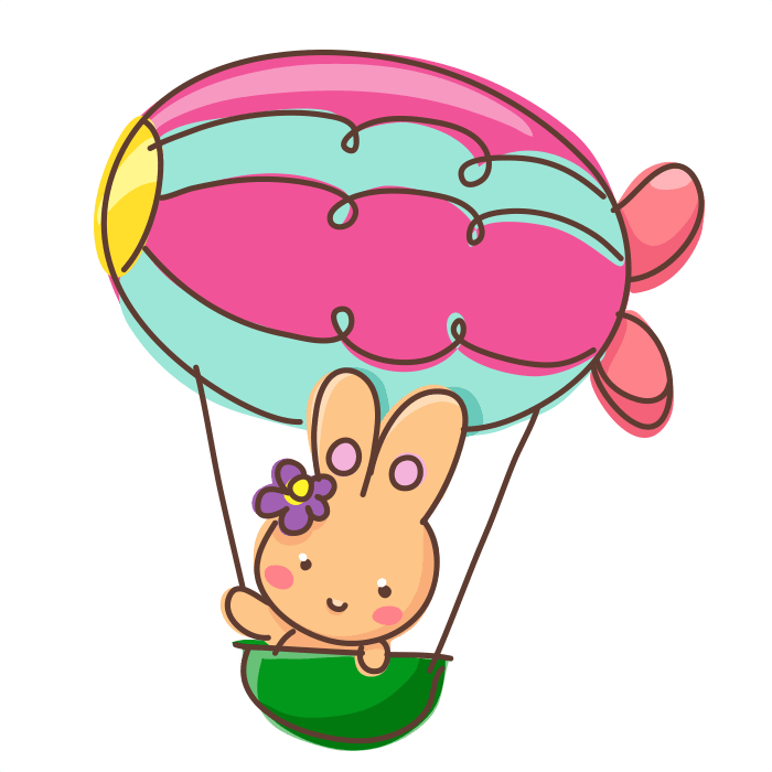 Clipart balloon airplane. In flight wall decals