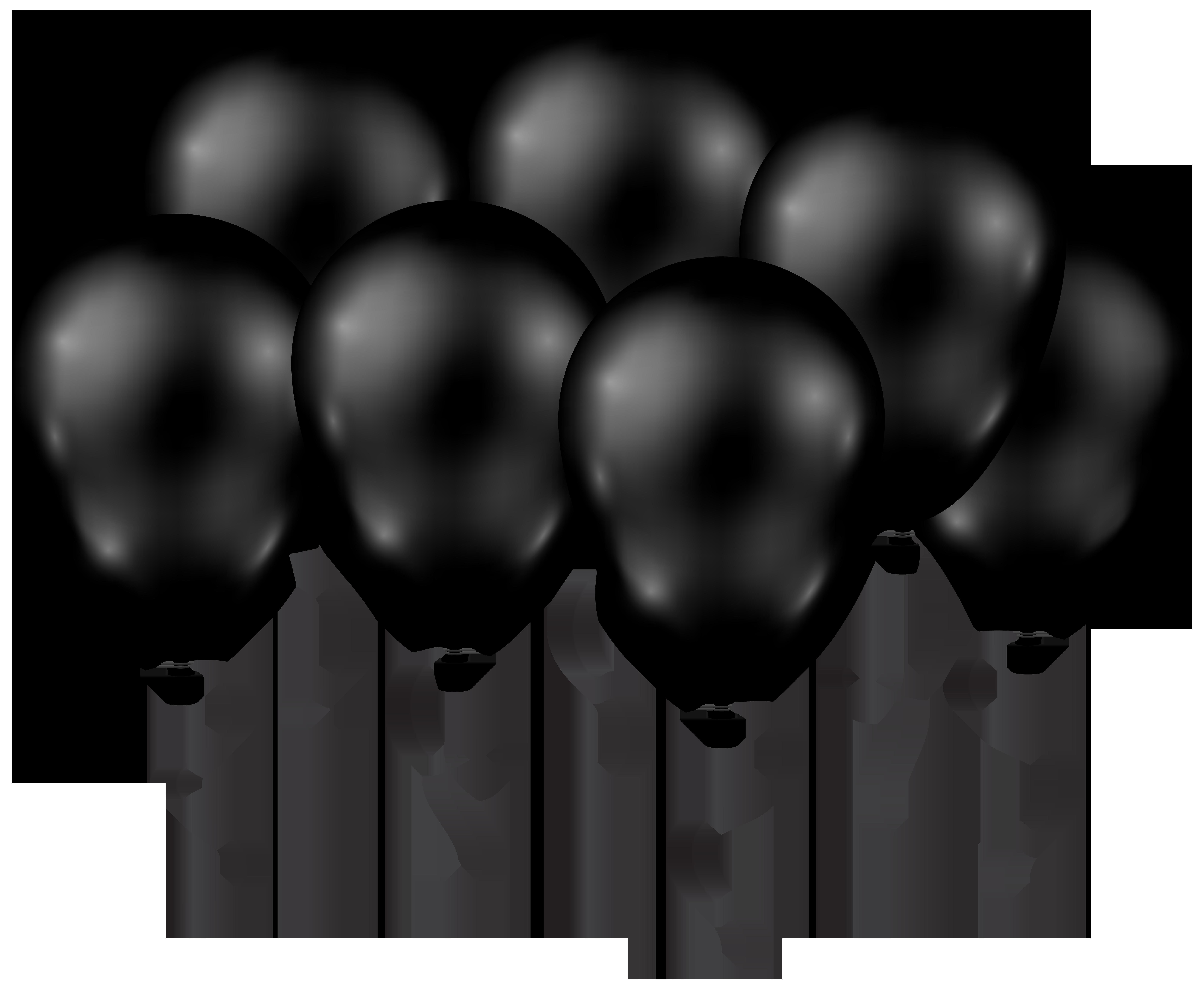 Facebook clipart monochrome. Black balloons transparent png