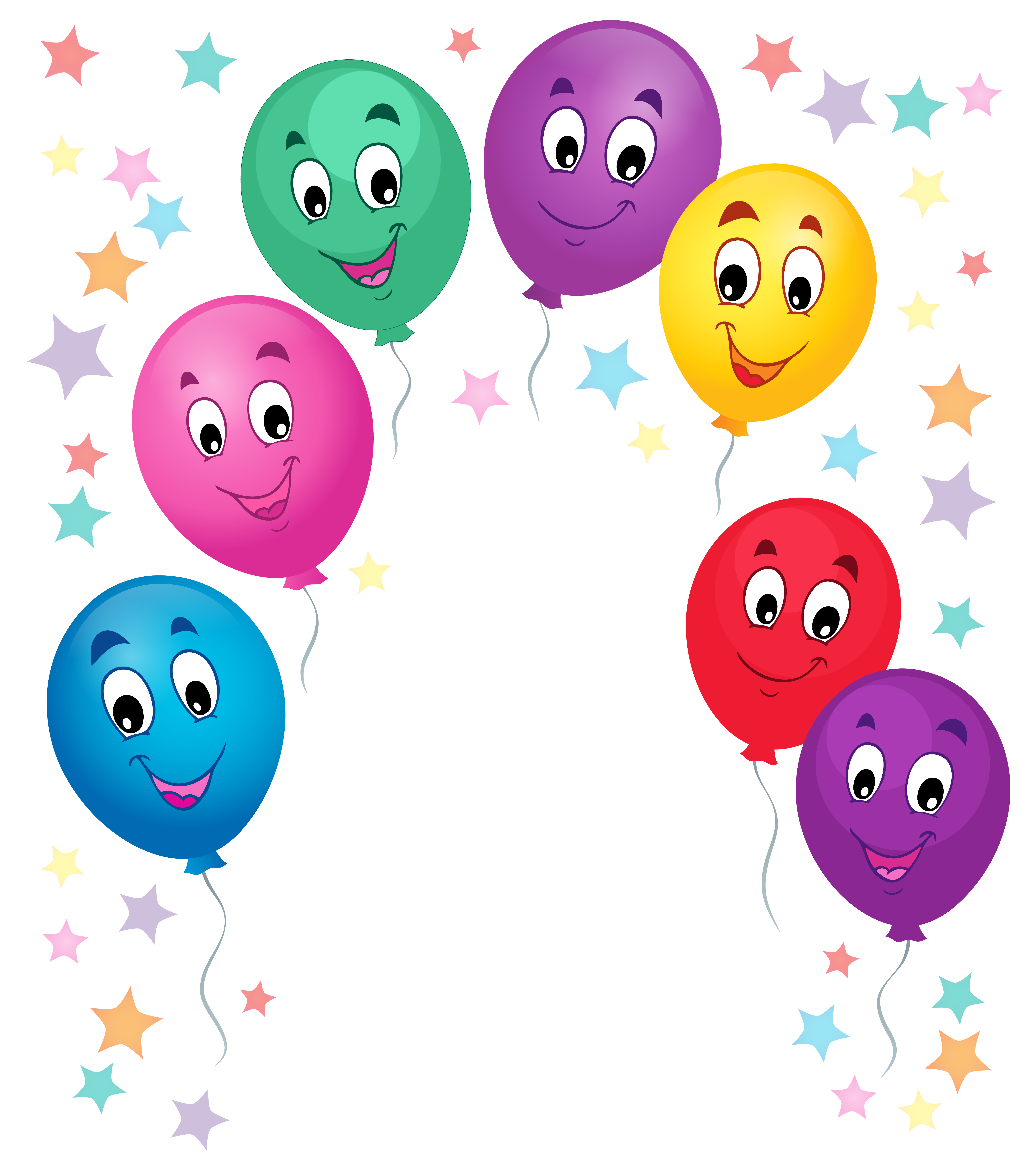 Balloons cartoon decoration png. Clipart balloon animation