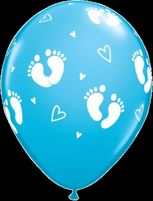 Footprints clipart blue. Baby footprint balloons boy