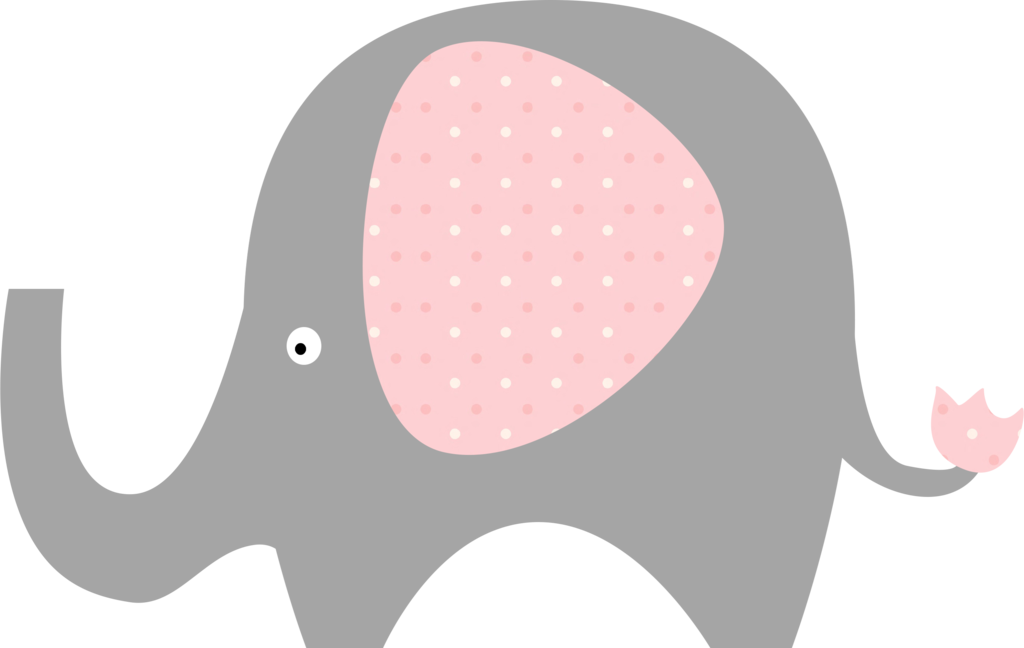 Pink and grey love. Eye clipart elephant