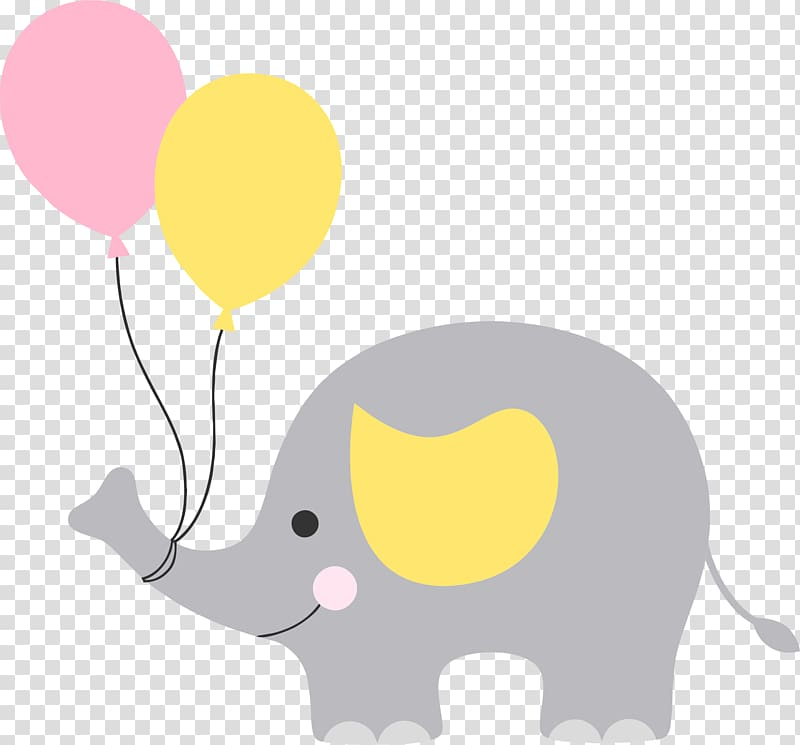 Clipart elephant balloon. Gray with graphics illustration