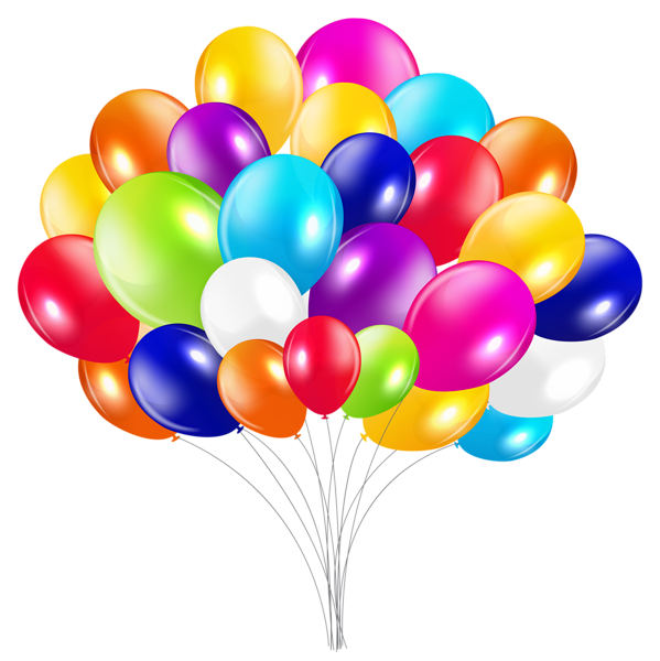 Bunch of Balloons PNG Clipart Image