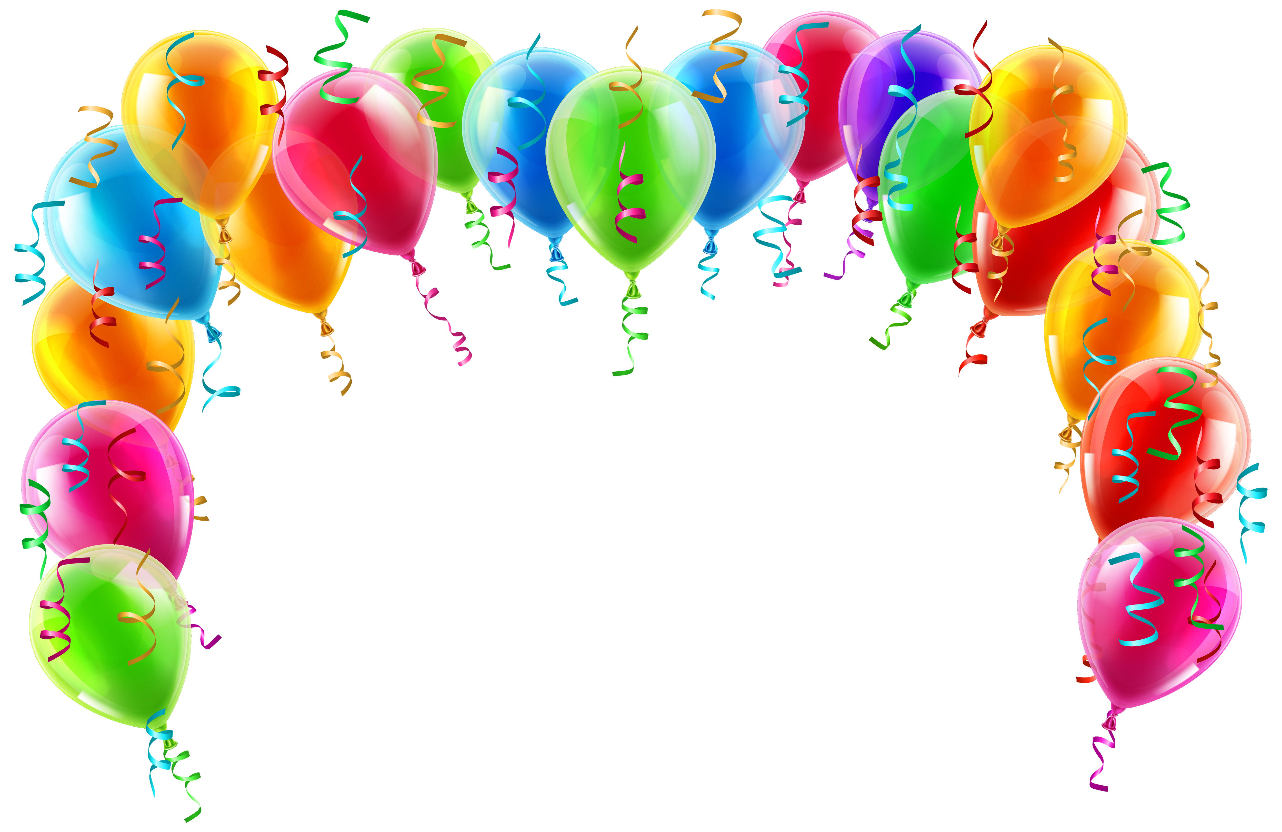 Colorful arch png picture. Clipart balloon banner
