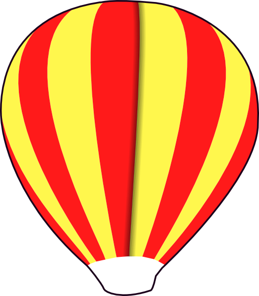 Red clipart hot air balloon. Basket coloring page panda