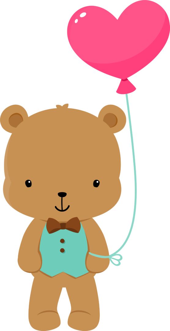 Clipart balloon bear.  fauna enamorada too