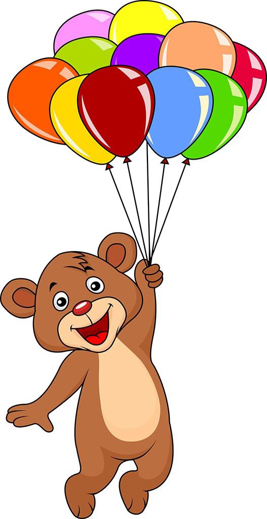 Teddy clip art holding. Clipart balloon bear