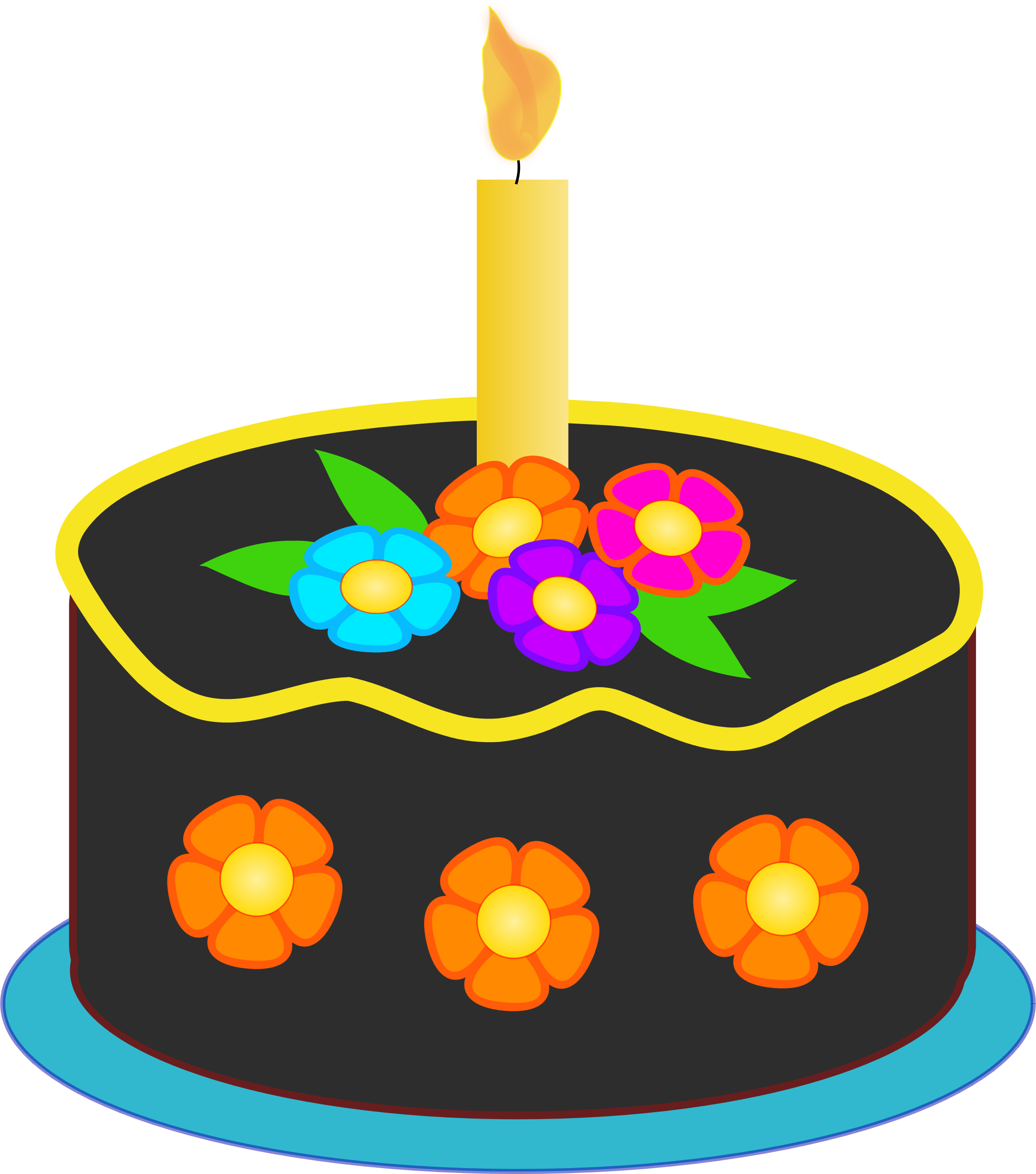 Clipart balloon birthday cake. Chocolate big image png