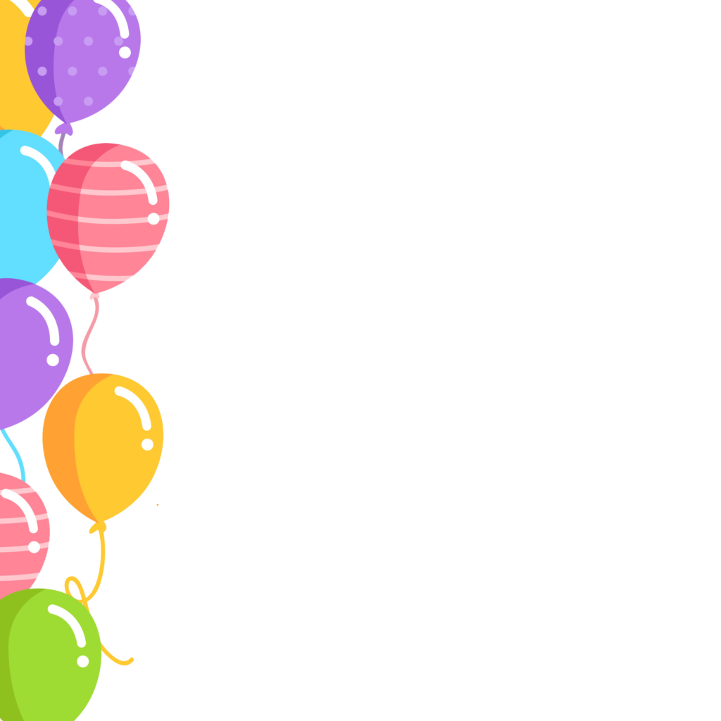 Clipart balloon boarder. Birthday balloons border png