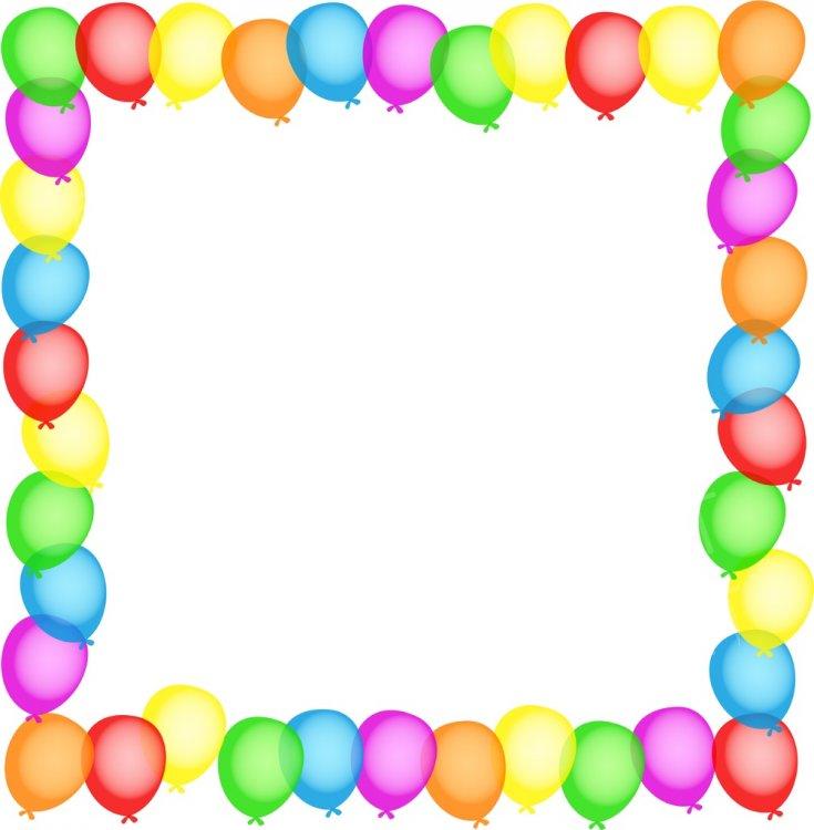 Birthday border prawny clip. Clipart balloon boarder