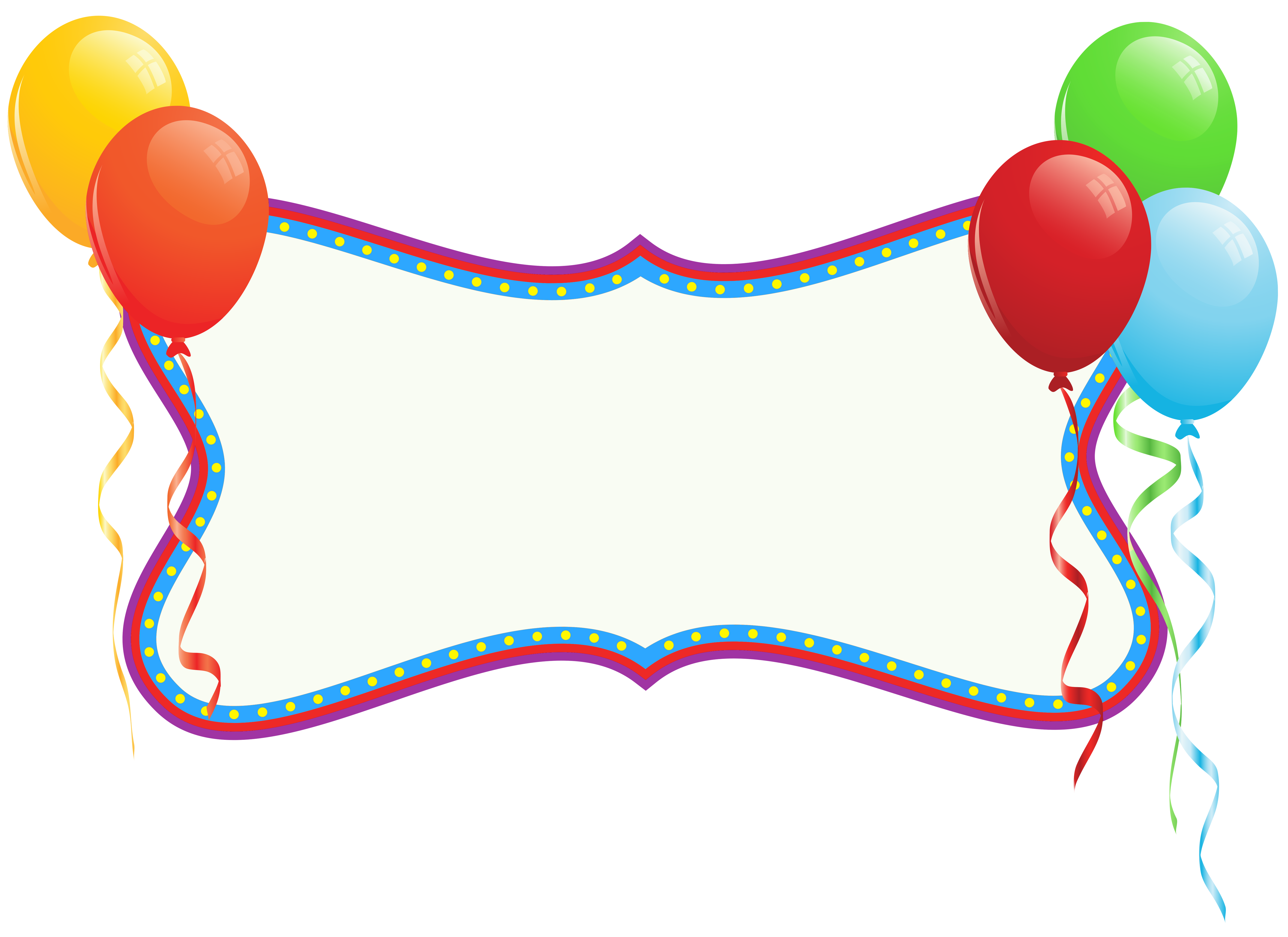 Clipart balloon booth. Birthday holiday banner with