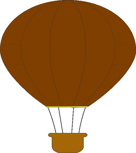 Clipart balloon brown. Hot air clip art