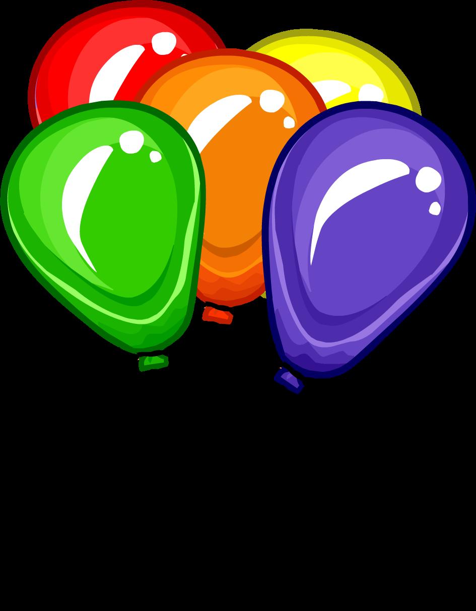 Bunch of balloons club. Clipart balloon bundle