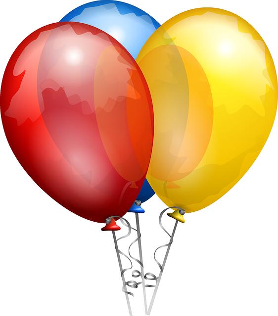 Clipart balloon bundle. Of party balloons kidsports