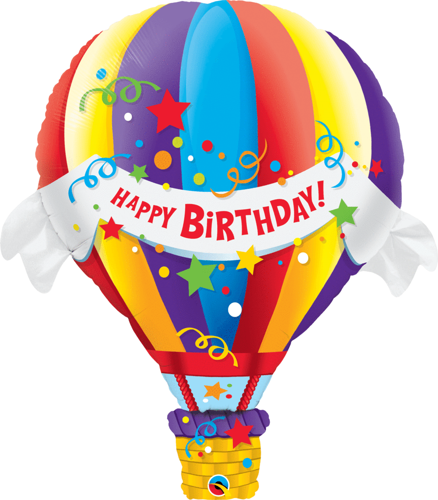 Shop happy birthday jumbo. Hearts clipart hot air balloon