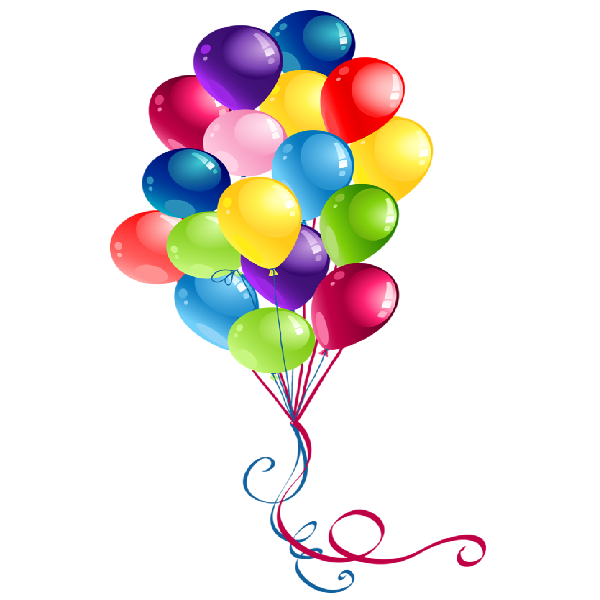 Party balloons cartoon clip. Weight clipart animated