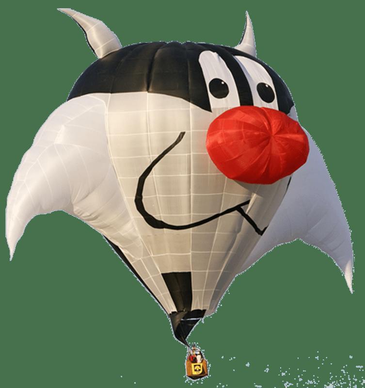 Hot air transparent png. Clipart balloon cat