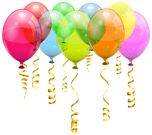Clipart balloon cat. Colorful bunch png image