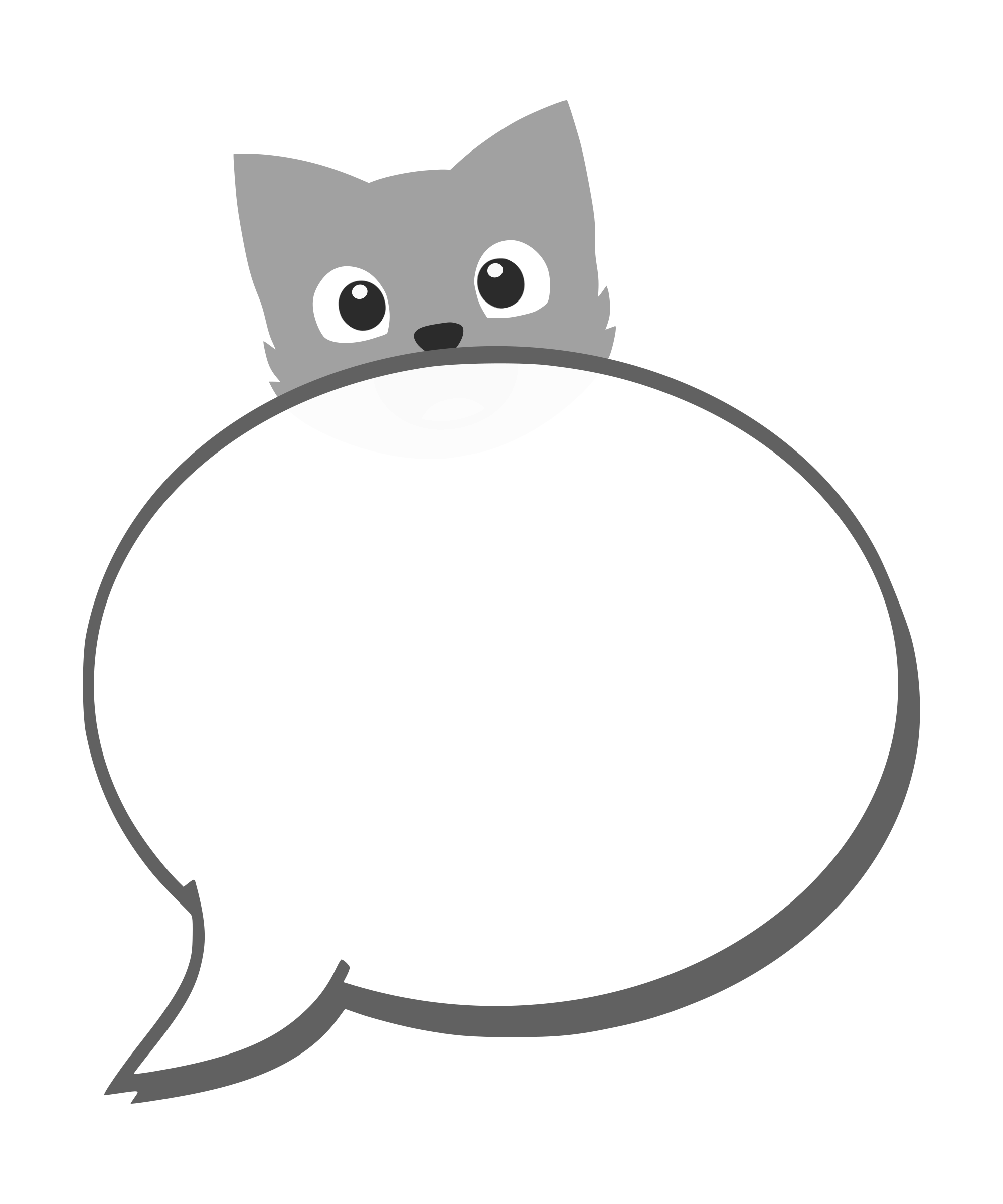 Clipart balloon cat. Speech with big image