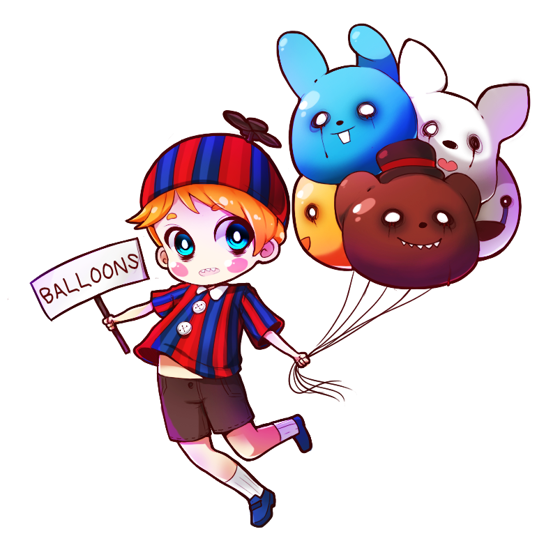 Clipart balloon child. Fnaf boy by lainykins
