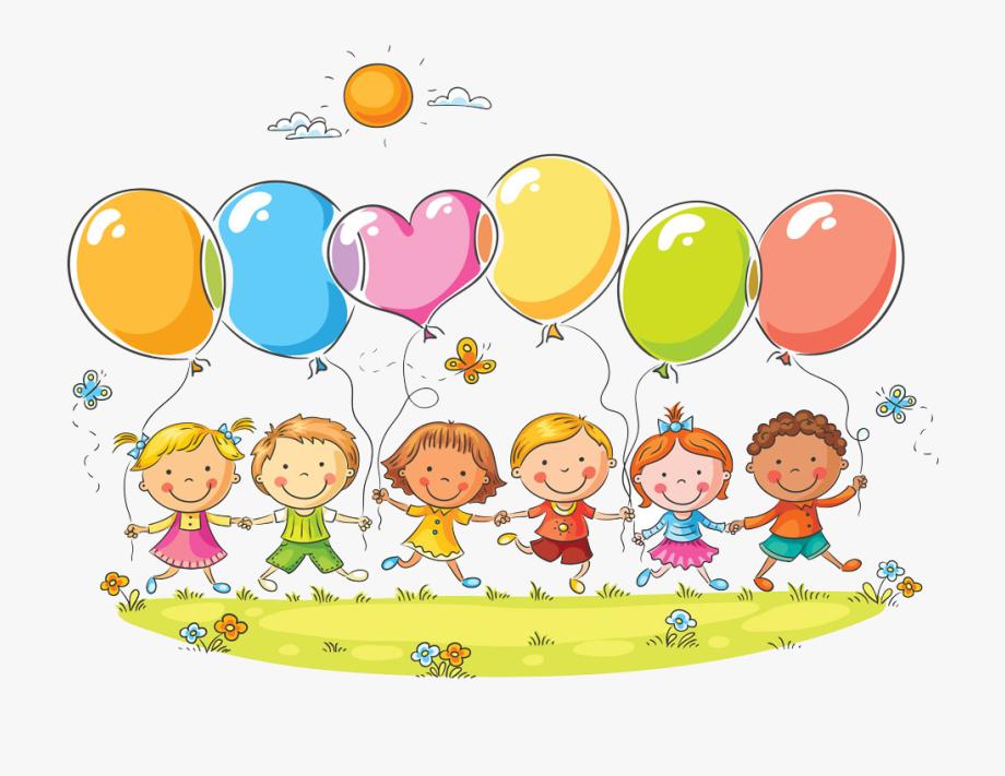 Clipart balloon child. Stock photography cute kids