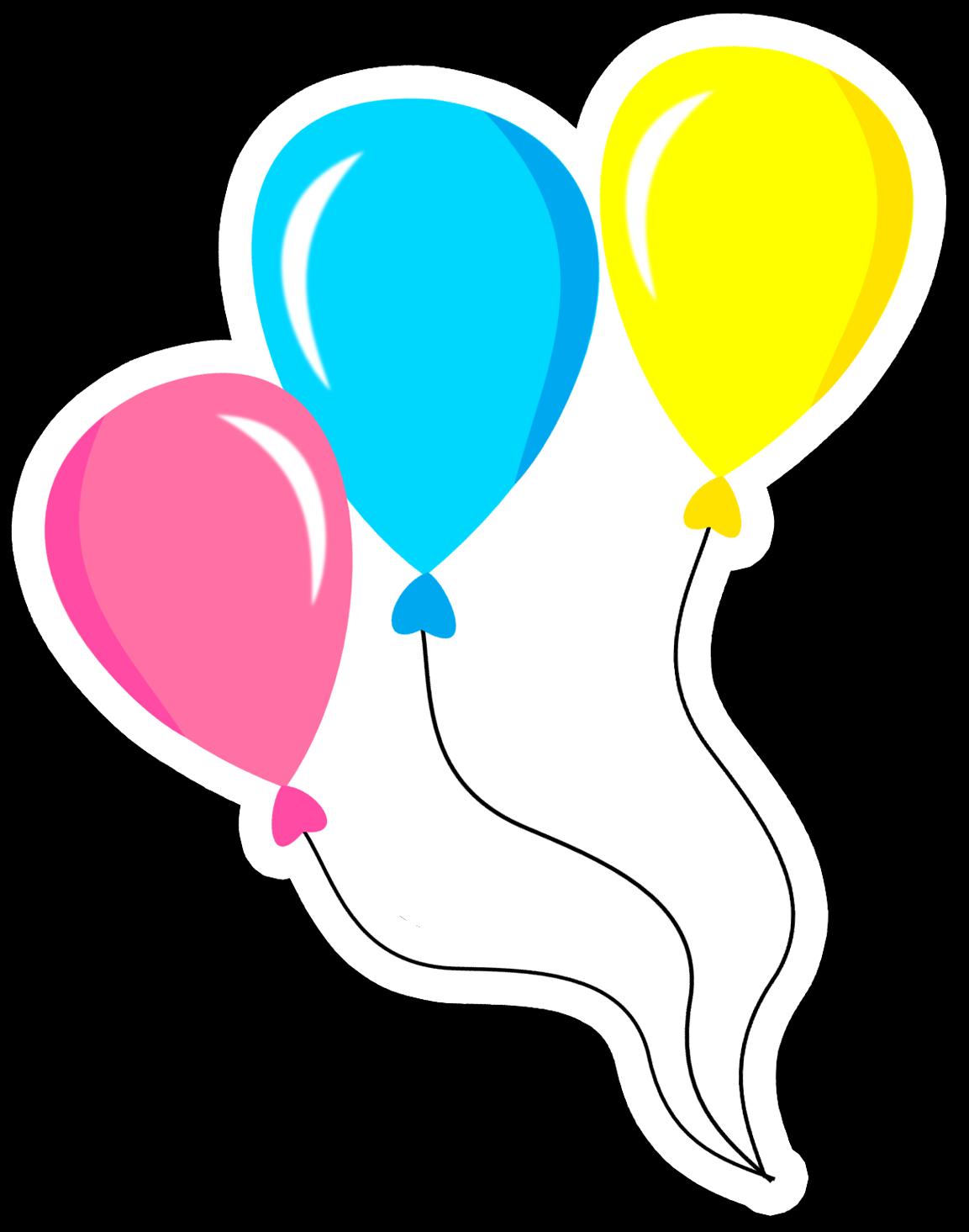 Clipart balloon circus. Bal es contorno branco