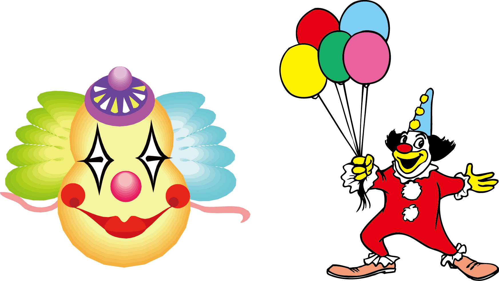Clown cartoon transprent png. Clipart balloon circus